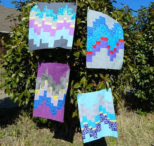Stash Bee Hive #3 February Modern Bargello blocks for Kat