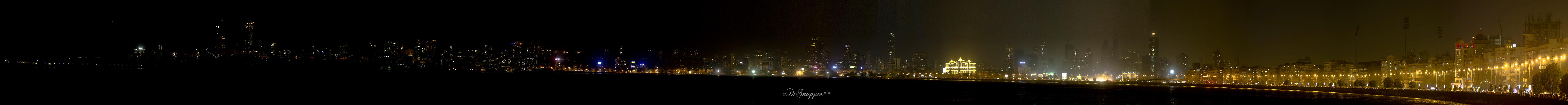 Panorama of Marine Drive, Bombay