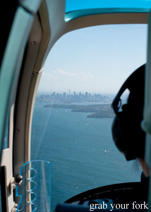 Bondi Helicopter flight aerial view of Sydney city