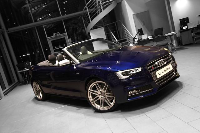 Audi S5 Cabriolet Estoril Blue Front Flickr Photo Sharing
