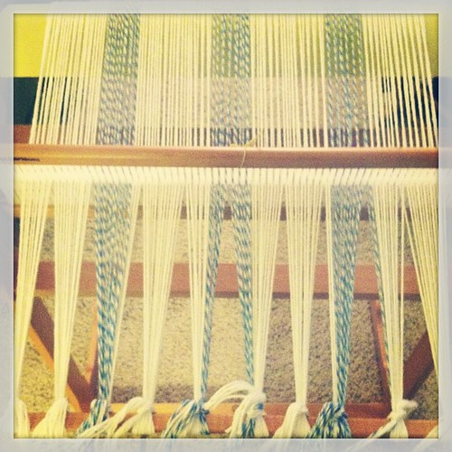 Weaving project number 3-- striped cotton tea towels!