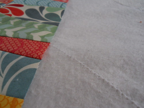 basting my Salt Air table runner