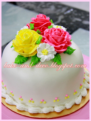 Personal Class: Steam Buttercream Cake ~ 15 July 2012