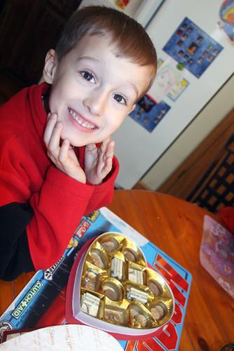 Nathan-BIG-smile-with-money-box-chocolates