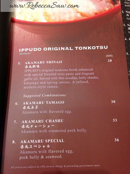 Ippudo Ramen Malaysia - Pavilion Kuala Lumpur-menu-001
