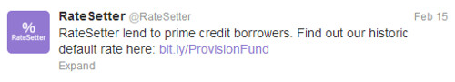 RateSetter Provision Fund Tweet