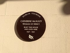 Photo of Catherine McAuley brown plaque