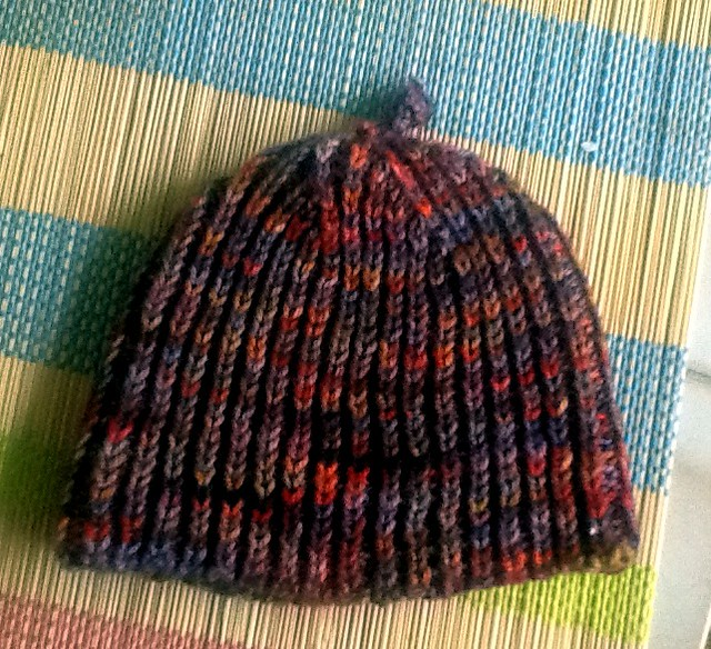 Brioche rib baby hat
