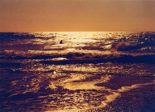 [フリー画像素材] 自然風景, 海, ビーチ・海岸, 朝焼け・夕焼け ID:201302262000