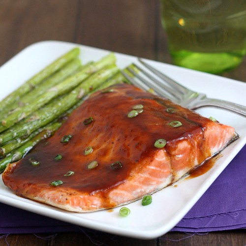 Pan Seared Salmon with Asian Barbecue Glaze