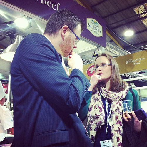 @caitl and Gavin looking very pensive at #catex #catex13 in #pallas palace.