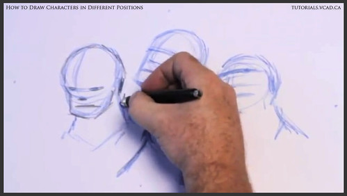 learn how to draw characters in different positions 009