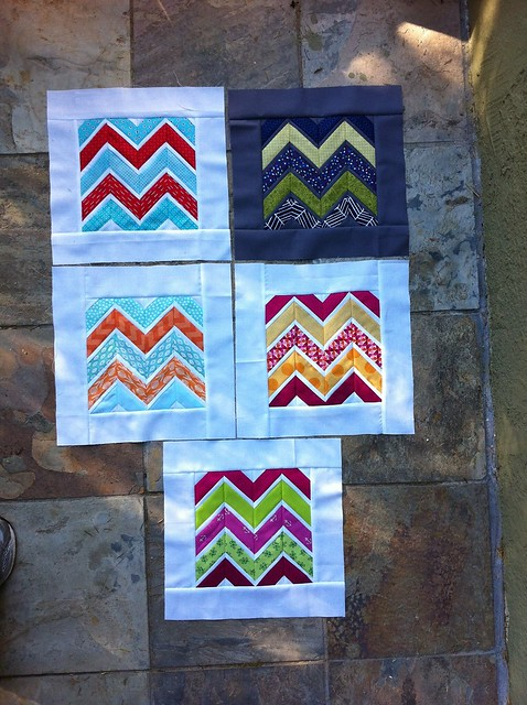 4x5 Paper Pieced Sharp Chevron Bee Blocks (I will make mine after my half marathon this weekend!)