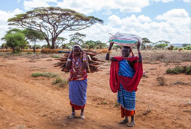 Masais en el Parque Nacional de Amboseli, Kenia