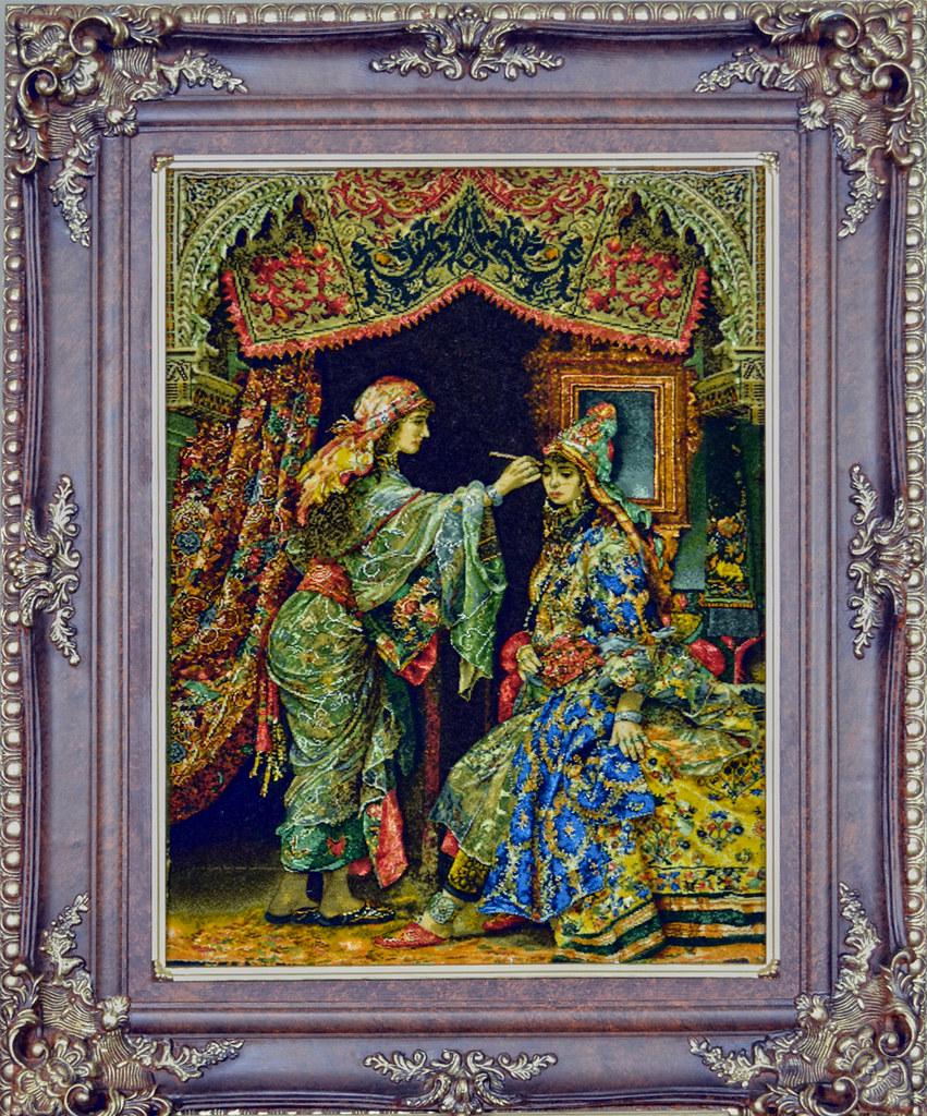 Arayeshgar-Silk-Persian-Tableau-Rug-1198-105x85