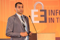 Omar Sherin speaking at Secure Energy Conf.
