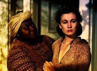 Scarlett O'Hara and her 'mammy' in Gone with the Wind