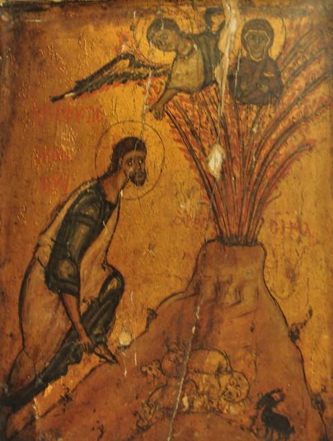 Moses At The Burning Bush Icon