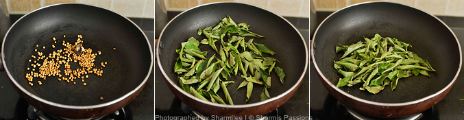 How to make curry leaves chutney - Step1