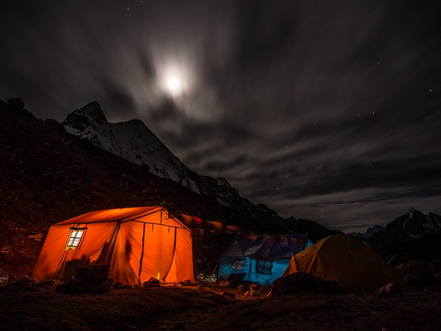 night, camping, sky