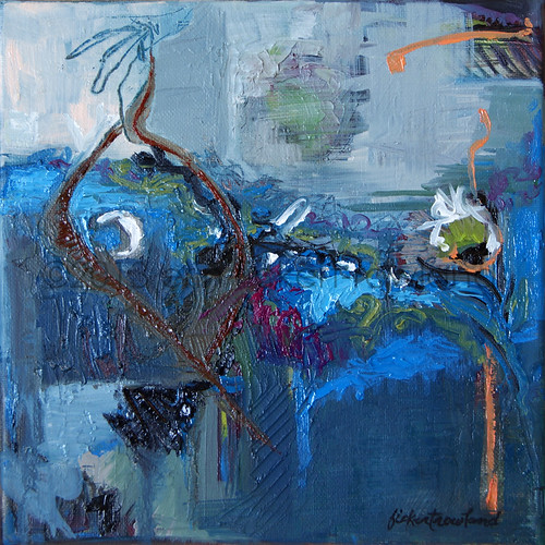 """Sea Life"" oil on canvas by Erin Fickert-Rowland"