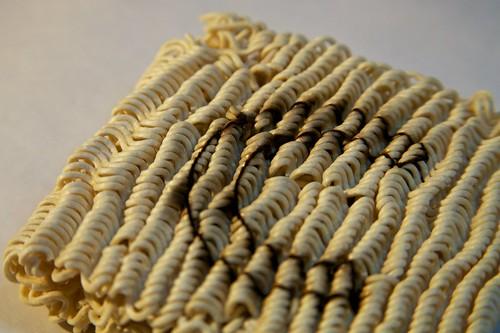 Laser Engraved Ramen Noodles