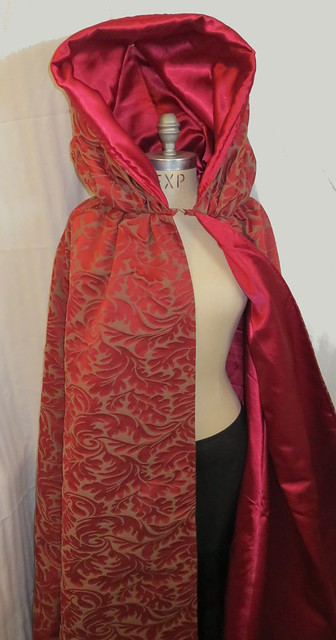 front with hood pinned up