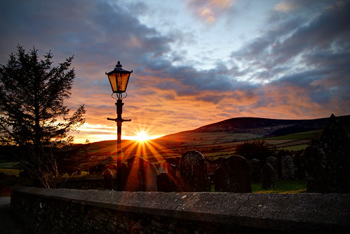 sunset church graves isleofman stlukes eastbaldwin
