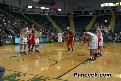 Eargle Free Throw At Wright State