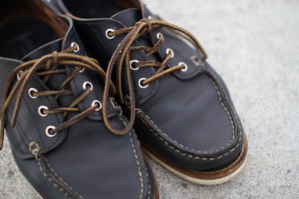 OAKSTREET BOOTMAKERS Navy Chromexcel Trail Oxford