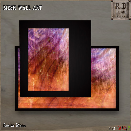 *RnB* Mesh Wall Art - Abstract 3