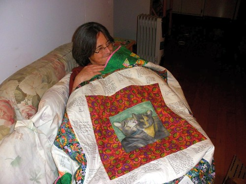Ebby and her quilt