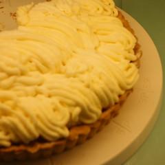ピンぼけ。チーズのモンブランタルト。マリアサンクの新作。