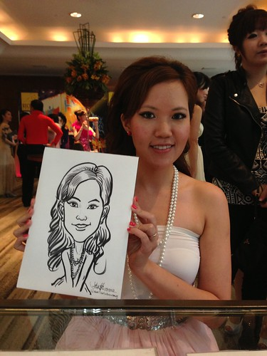 caricature live sketching for Recruit Express Dinner & Dance 2013 - 4
