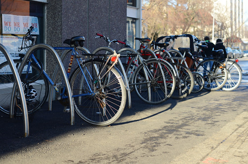 New Science Center Bike Racks at Harvard