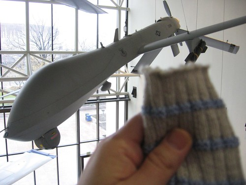 Armed drone and sock