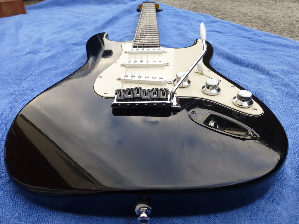 Black French Polished Strat With Warmoth Neck Pic 2 | Flickr