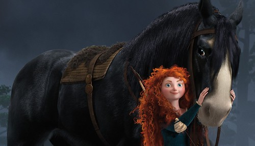 The star of Brave and her beloved horse.