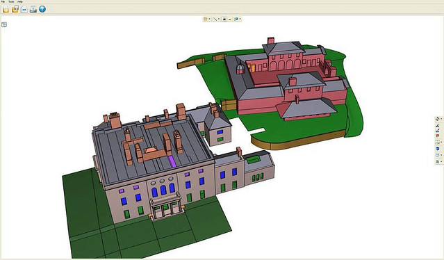3D CAD model of Nant Eos Mansion