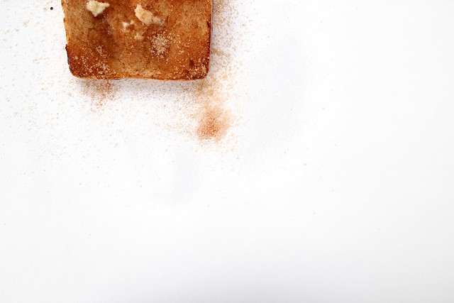 on toast: white bread