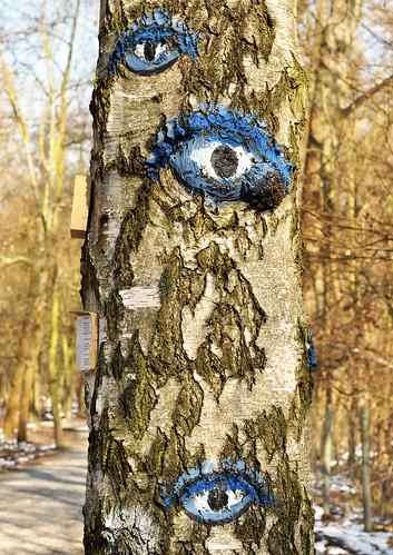 Wildpark Ludwigshafen-Rheingönheim Haiku Kunst am Baum Landart