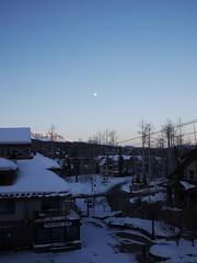 木, 2013-02-28 06:53 - 朝のお月様