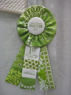 Even the ribbons were quilts