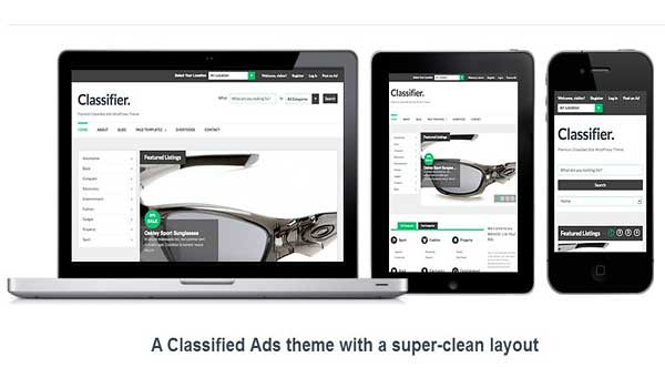 wordpress classified theme classifire colorlabs