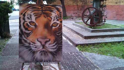 Tiger on canvas by fasmgg