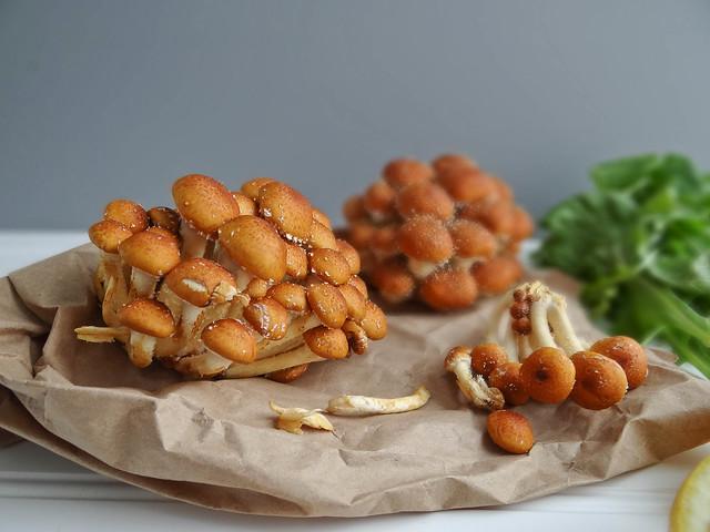 roasted sunchoke + chestnut mushroom penne // arugula