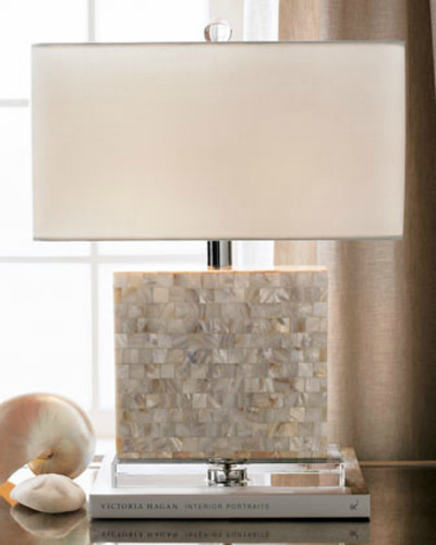 Delicieux Mother Of Pearl Table Lamp Rectangle