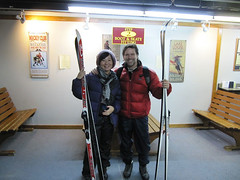 Cross-country skiing for the first time
