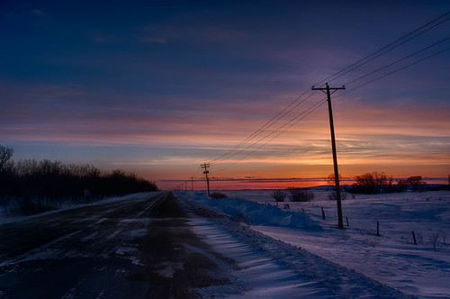 winter sunset night winnipeg cloudy manitoba telephonepoles stnorbert pwwinter