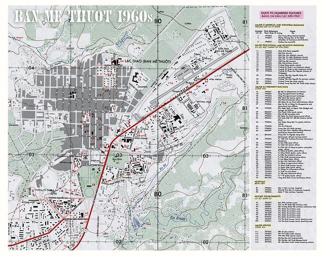 Bản đồ Thị xã BAN MÊ THUỘT 1960s